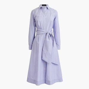 (nwt) JCrew Tie-waist Cotton Shirtdress